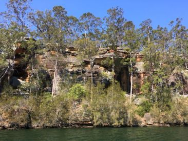 Imposing sandstone cliffs