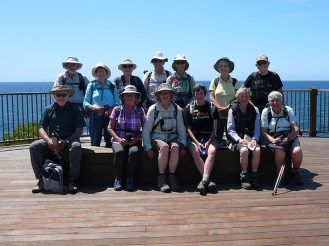 Front: Derek, Pat, Mary, Heather, Susan, Bev. Back: Stan, Lesley, Fran, James, Mary, Karen, Simeon.