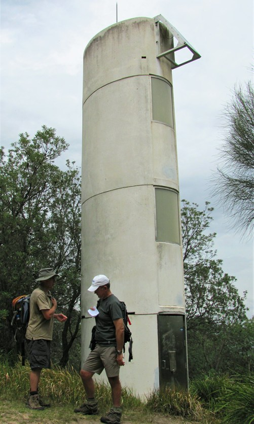 Martin and Mark at Burrewarra Point Lighthouse.