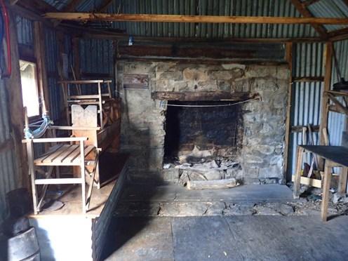Interior of Cesjacks Hut.