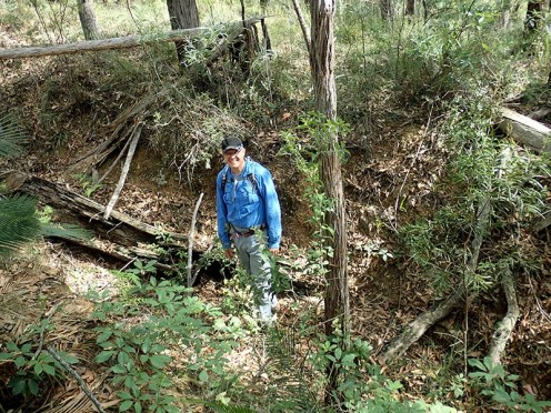 Rob enjoying a look around the old diggings.