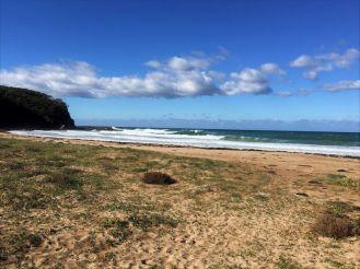 Flat, sandy Oaky Beach