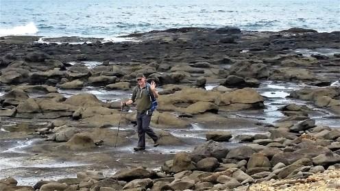 Tony on the rocks - shaken but not stirred!