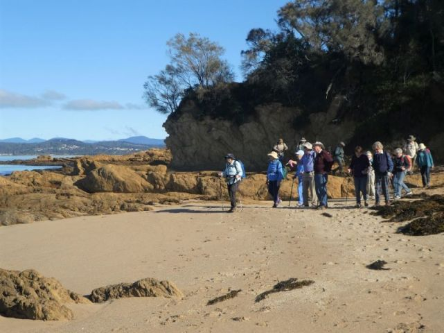 Gathering on the beach