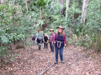 Carol leading the group