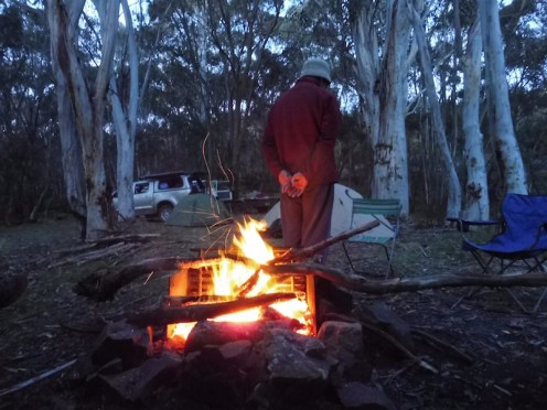 Its lonely being the leader - Ian and his fire!