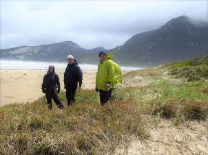 Barry's hardy companions - Jill, Mark and Brian