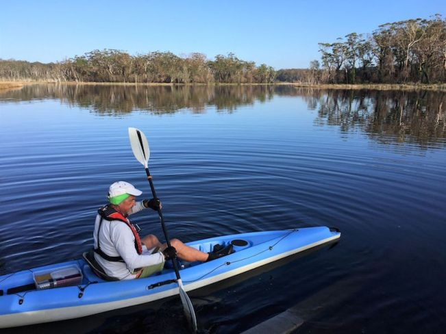 Launching on a mirror perfect South Durras morning
