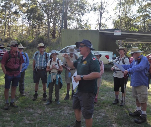 Gary giving details on the WW2 bunkers