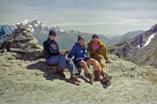 1996 with Mike and Ainslie on the Tongariro Crossing in New Zealand