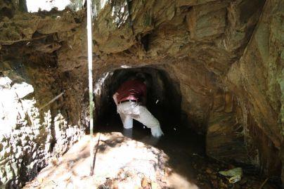 Ian investigating tunnel
