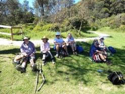 Lunch group Shelleys Beach