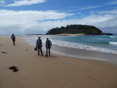 Karen and leader, Sharon, with Crampton Island in the background