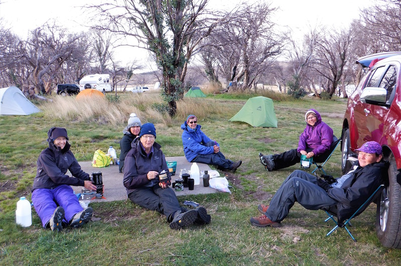 Last night at Three Mile Dam - enjoying our Back Country meals