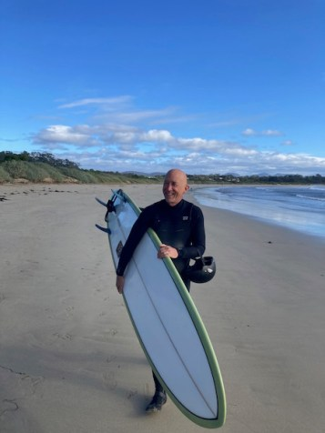 Hmmm Tom thinks ... Surf or bushwalk with my wife?