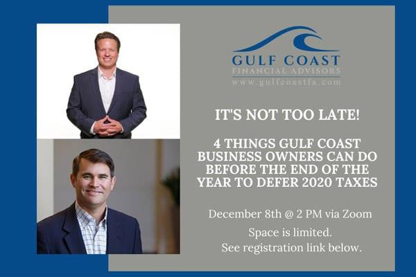 Gulf Coast Financial Advisors To Host Business Webinar