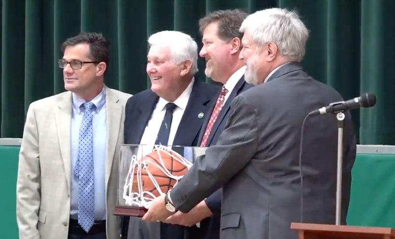 McElroy Honored at Clark-Shaw Naming Ceremony
