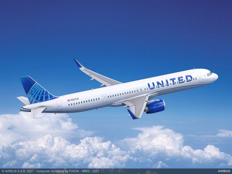 United Orders 70 Airbus Planes