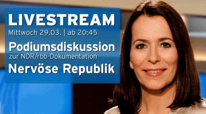 Nevöse Republik: Podiumsdiskussion 2017-03-29 20:45 Anne Will