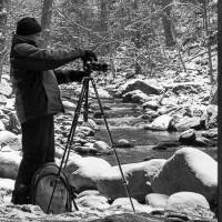 Buchberger Leite im Bayerischen Wald in Schwarz und Weiß