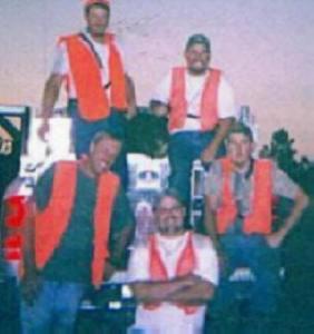 Bombing range -- Greg, Bert, Eugene, John and Eric