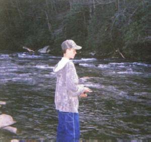 Nathan -- Trout fishing