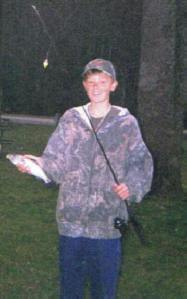 Nate with a trout