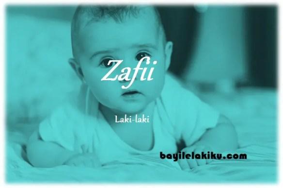 arti nama Zafii