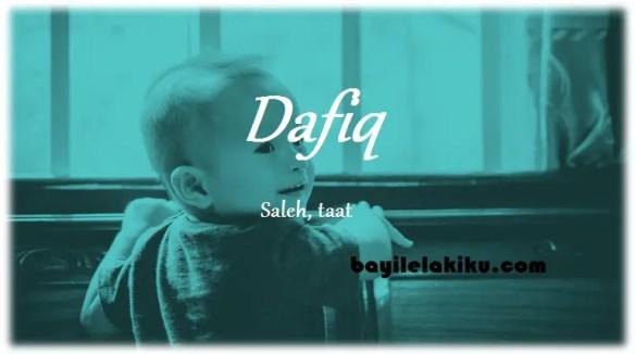 arti nama Dafiq