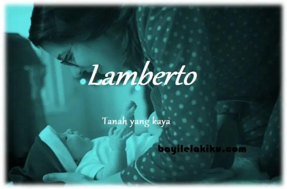 arti nama Lamberto