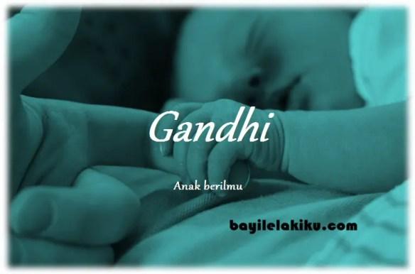 arti nama Gandhi