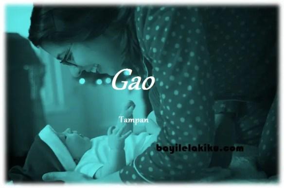 arti nama Gao