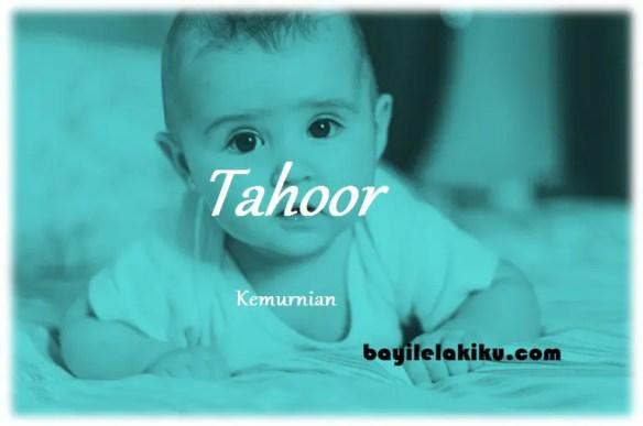 arti nama Tahoor