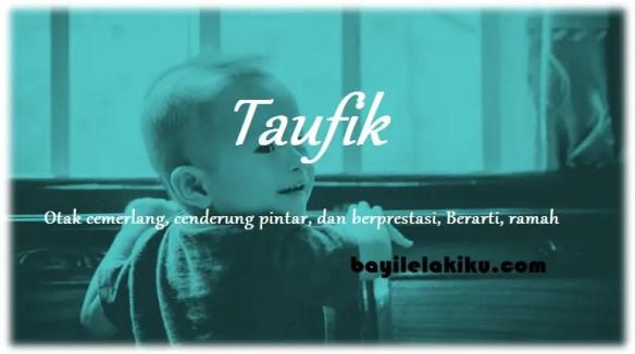 arti nama Taufik