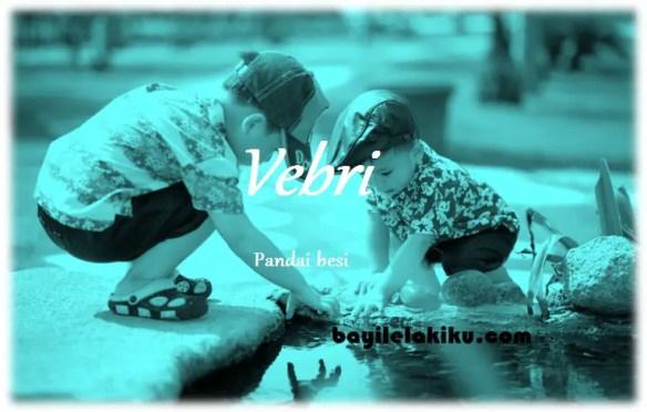 arti nama Vebri