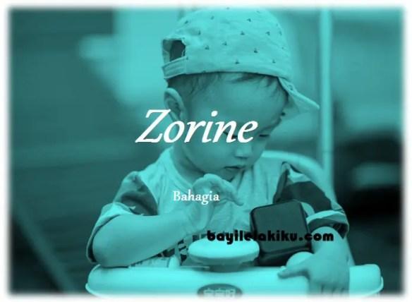 arti nama Zorine