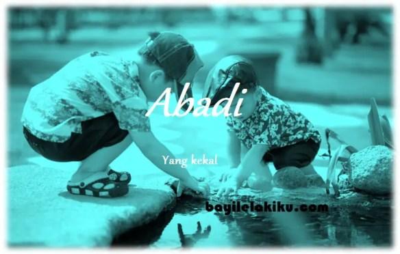 arti nama Abadi