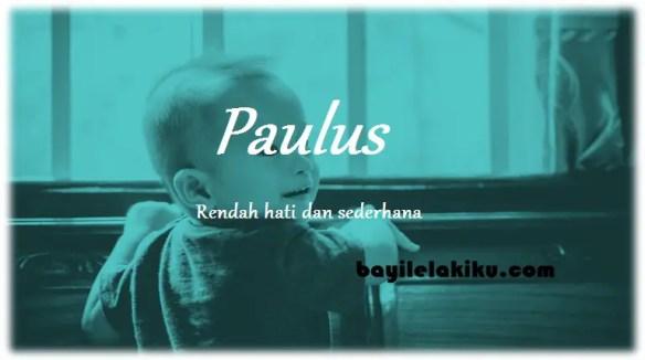 arti nama Paulus