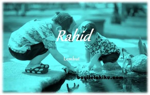 arti nama Rahid