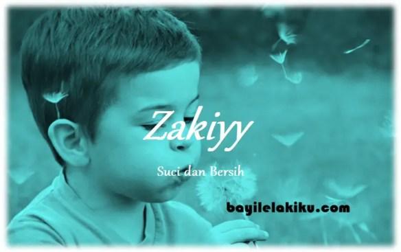 arti nama Zakiyy
