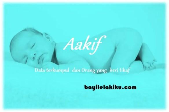 arti nama Aakif