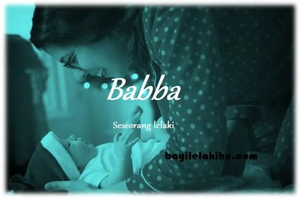 arti nama Babba
