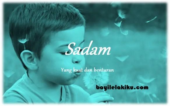 arti nama Sadam