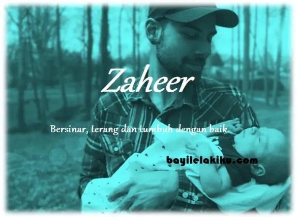 arti nama Zaheer