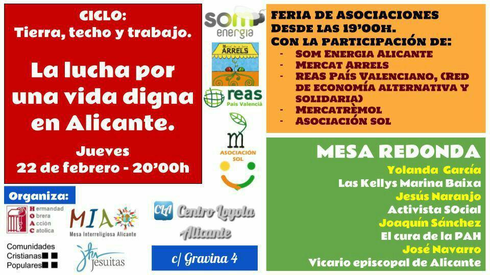 La lucha por una vida digna en Alicante