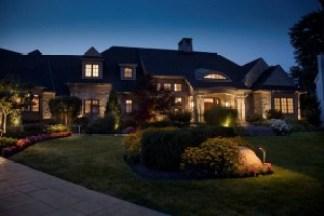 Baylites - outdoor landscape lighting designs - front of house