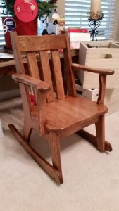 Wooden Rocking Chair and Hanging file folders