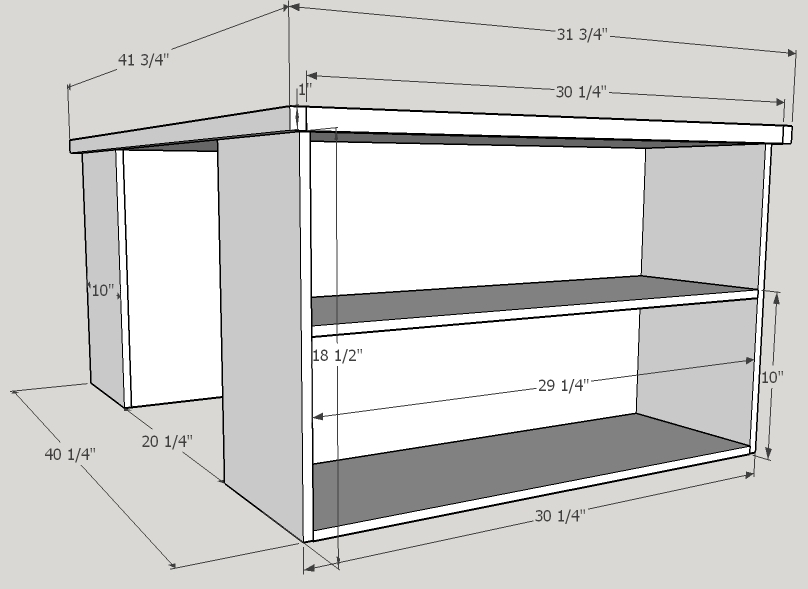 Plan for Lego Table with shelves – Bayne Custom Woodworking