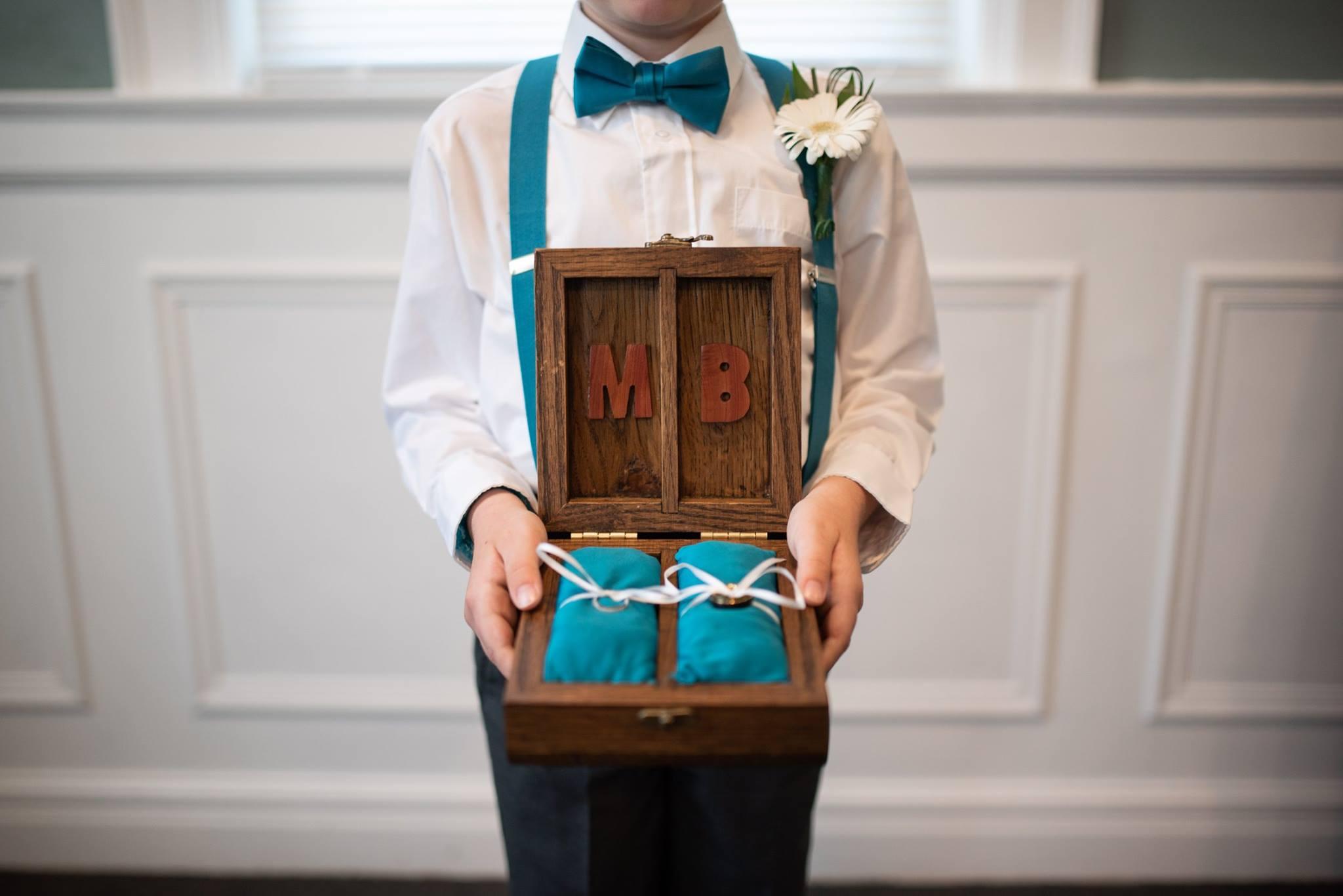 Custom Ring Bearer Wooden Box
