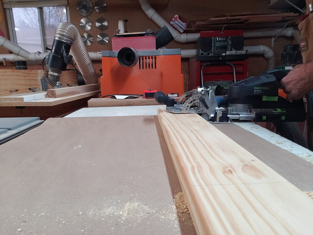Using the Festool to drill the holes